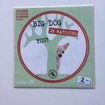 Sticker Big dog watching