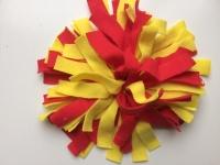 Snuffelmat S geel rood