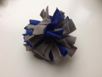 Frutselbal blauw grijs