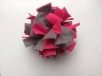 Frutselbal roze grijs