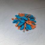 Snuffelmat S blauw oranje