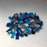 Snuffelmat M blauw grijs