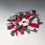 Snuffelmat M roze grijs wit