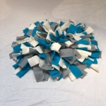 Snuffelmat M blauw grijs wit