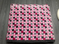 Slaapzak L grijs roze blokjes